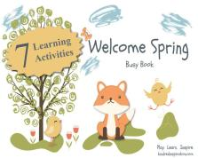 Printable spring toddler learning busy book