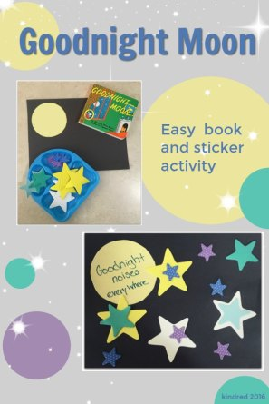 Goodnight Moon book themed craft
