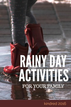 Outdoor kids activities for rainy days