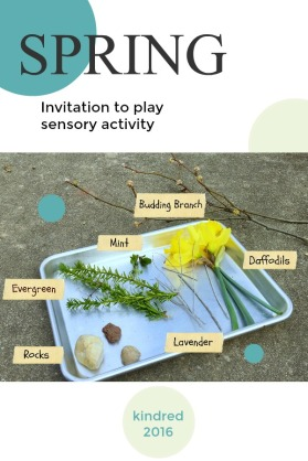 Spring sensory activity for babies and toddlers