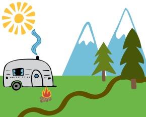 Free printable camping kids playscene