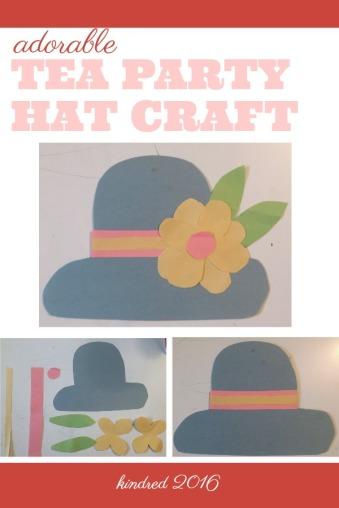 Easy kids tea hat craft for spring
