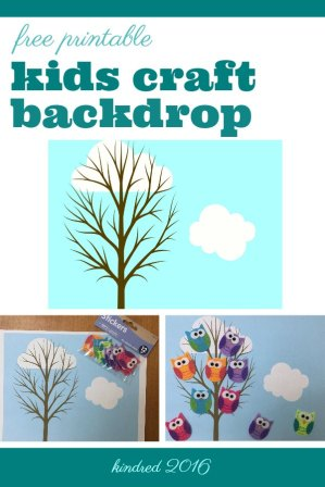 Free printable play mat of tree branches