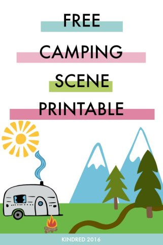 Free camping printable play scene