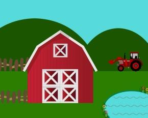 Free Kids Printable:  Farm PlayScene