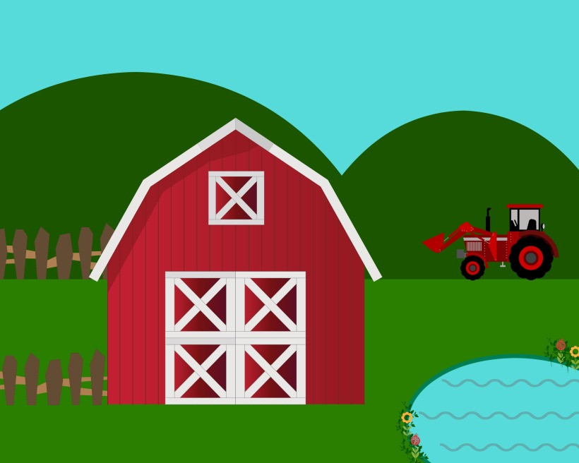 Free printable farm play mat