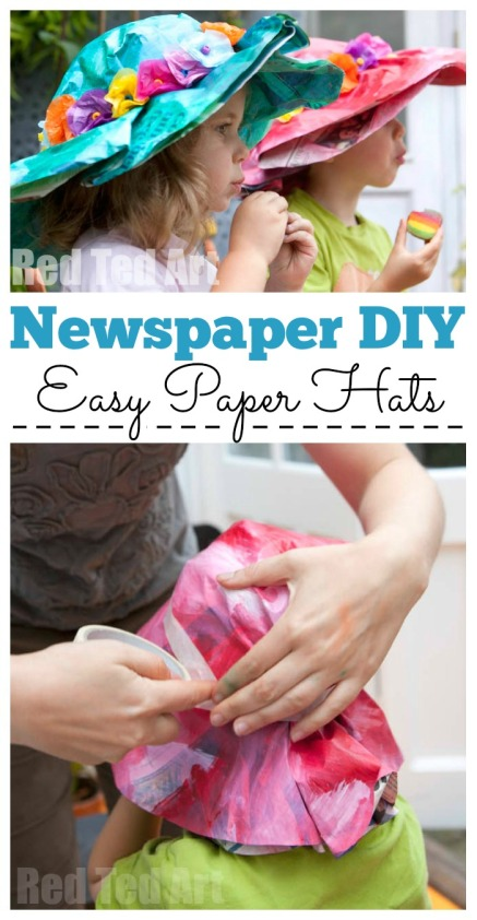 Newspaper hat kids craft