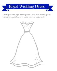 Free wedding dress printable