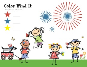 Free Printable: Fourth of July Find It