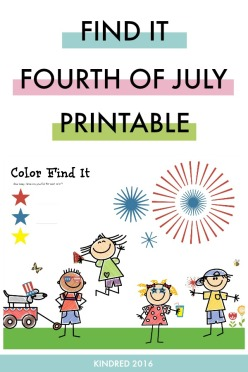 Free printable kids activity for color recognition