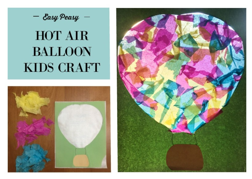Easy Kids Craft - hot air balloon