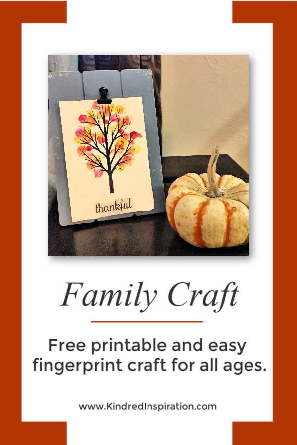 Printable Thanksgiving Craft Pin