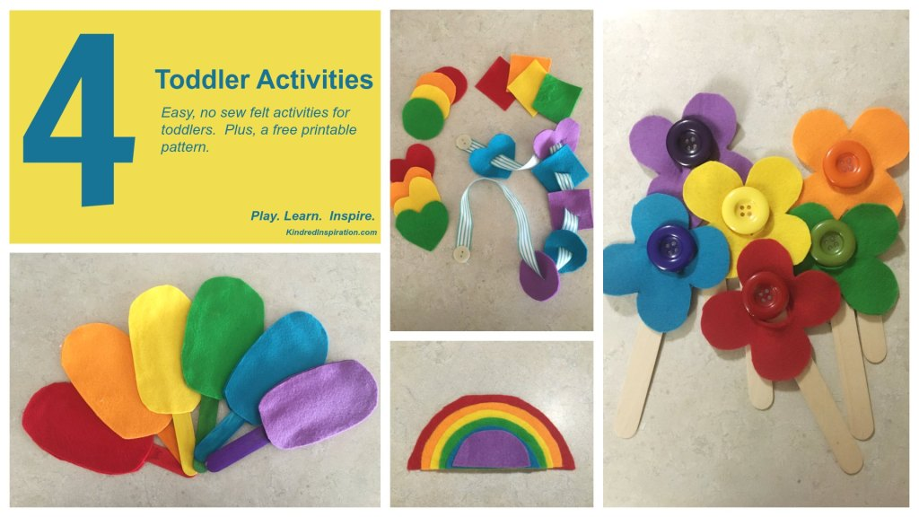 DIY no sew felt learning activities for toddlers