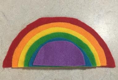 DIY Felt Rainbow Puzzle Toddler Activity