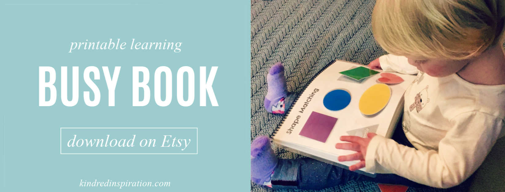 Printable Toddler Learning Busy Book