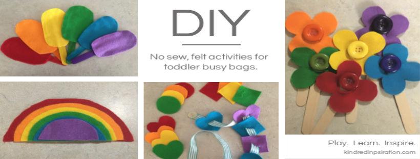 DIY Felt toddler learning activities