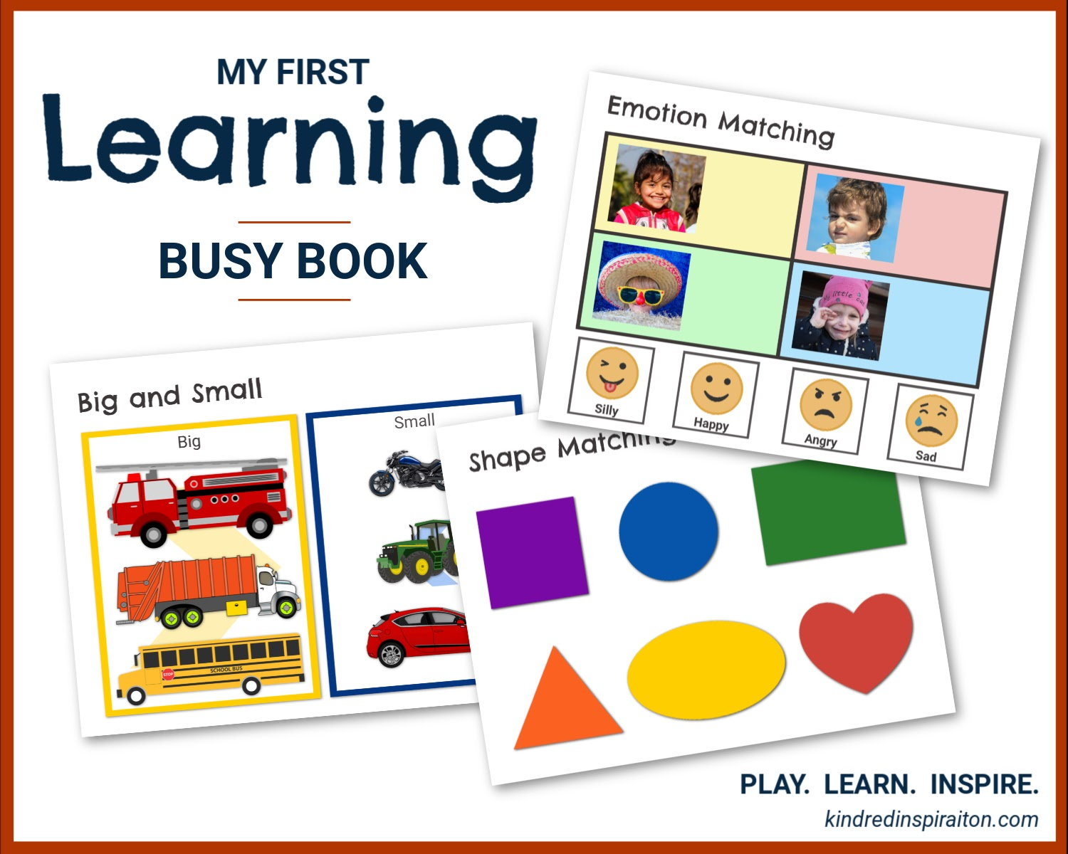 toddler printable learning quiet book