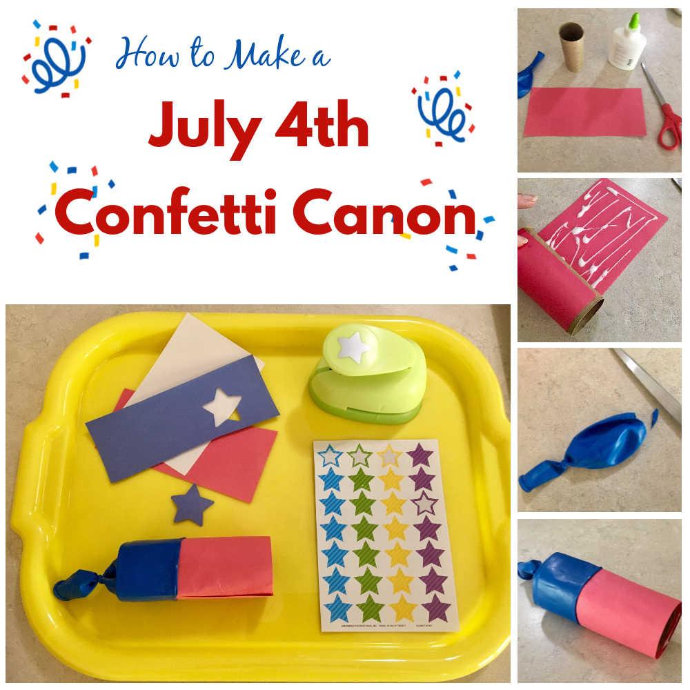 How to make a confetti canon kids craft
