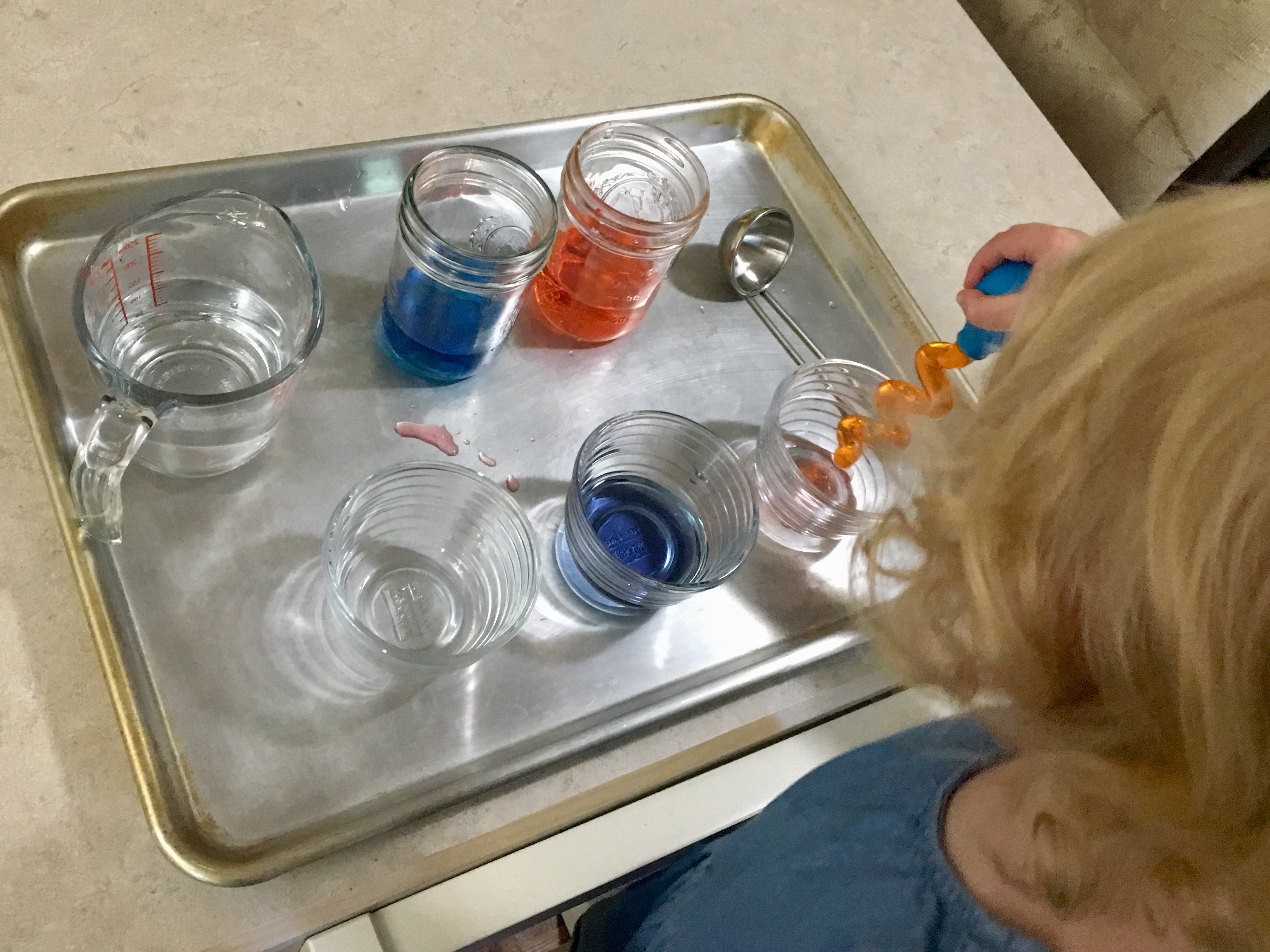 Toddler Water Sensory Fourth of July Play