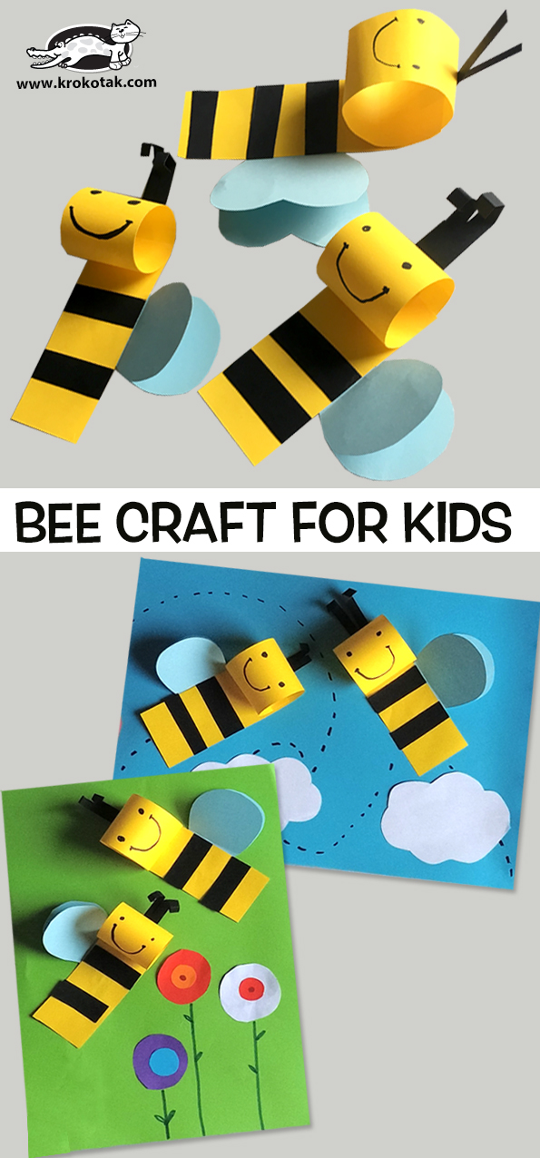 Bee Cut and Paste Craft