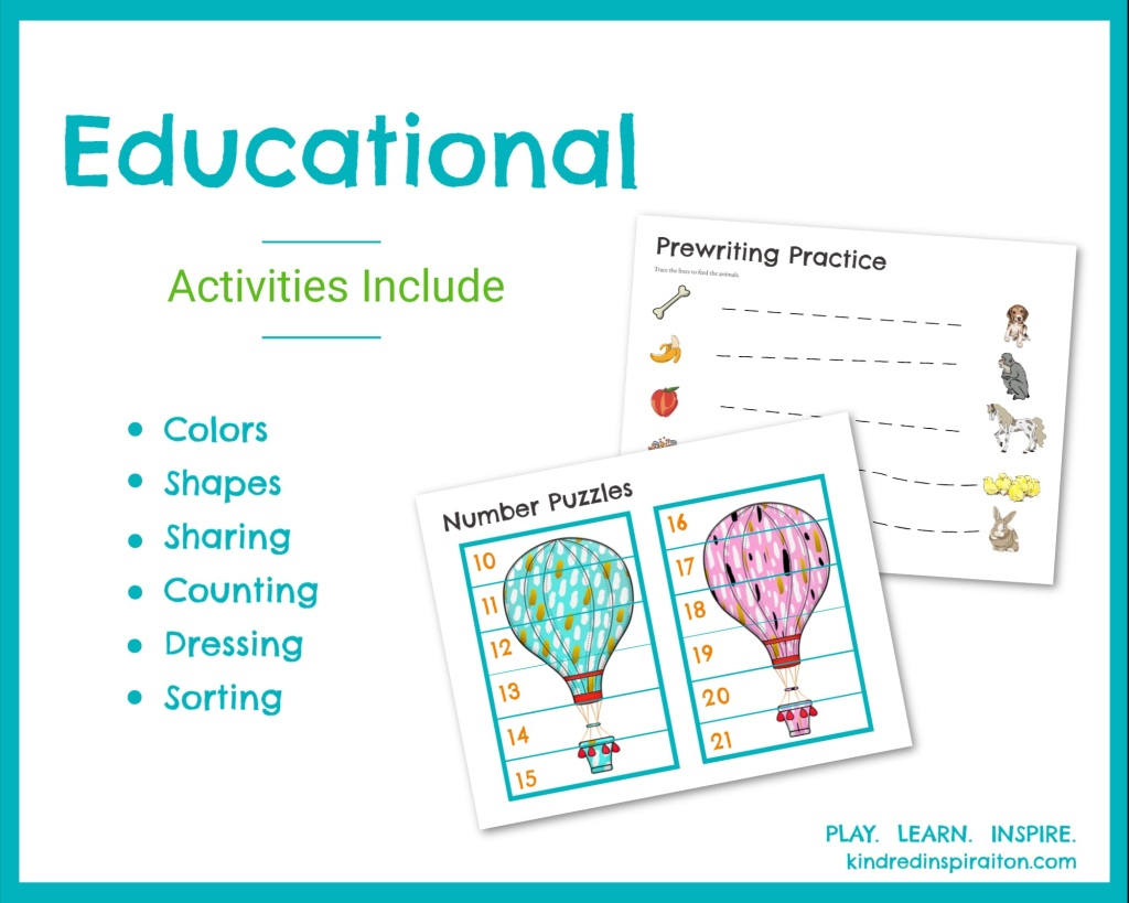 First Lessons Learning 2 0 Printable Busy Book Kindred Inspiration