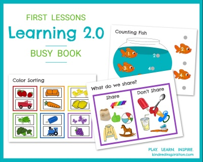Printable 2 - 3 year old learning busy book