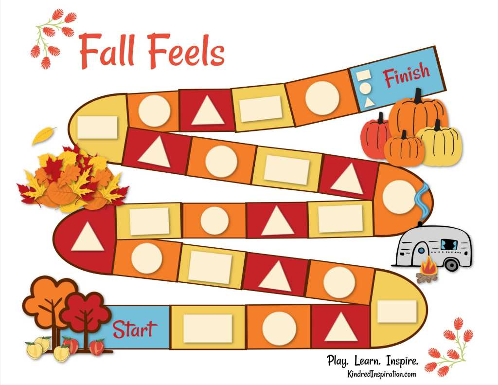 free printable fall shapes toddler board game