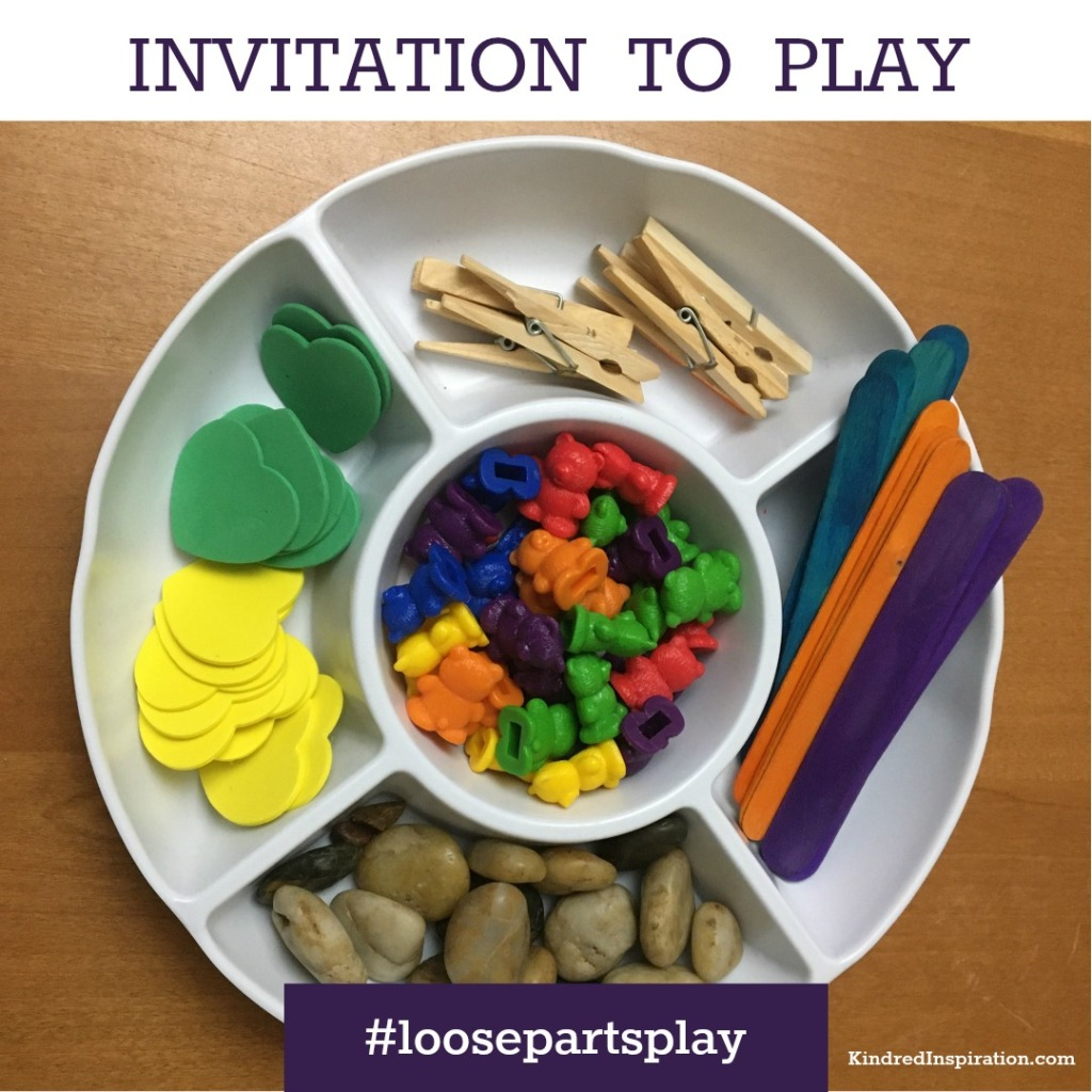 Loose Parts and Learning Patterns Tray