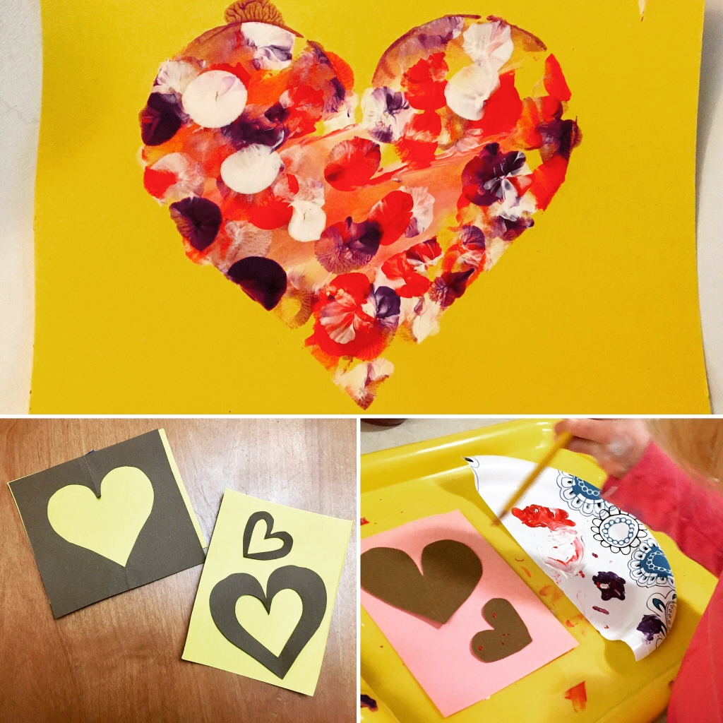Valentines Day Kids Painting Craft