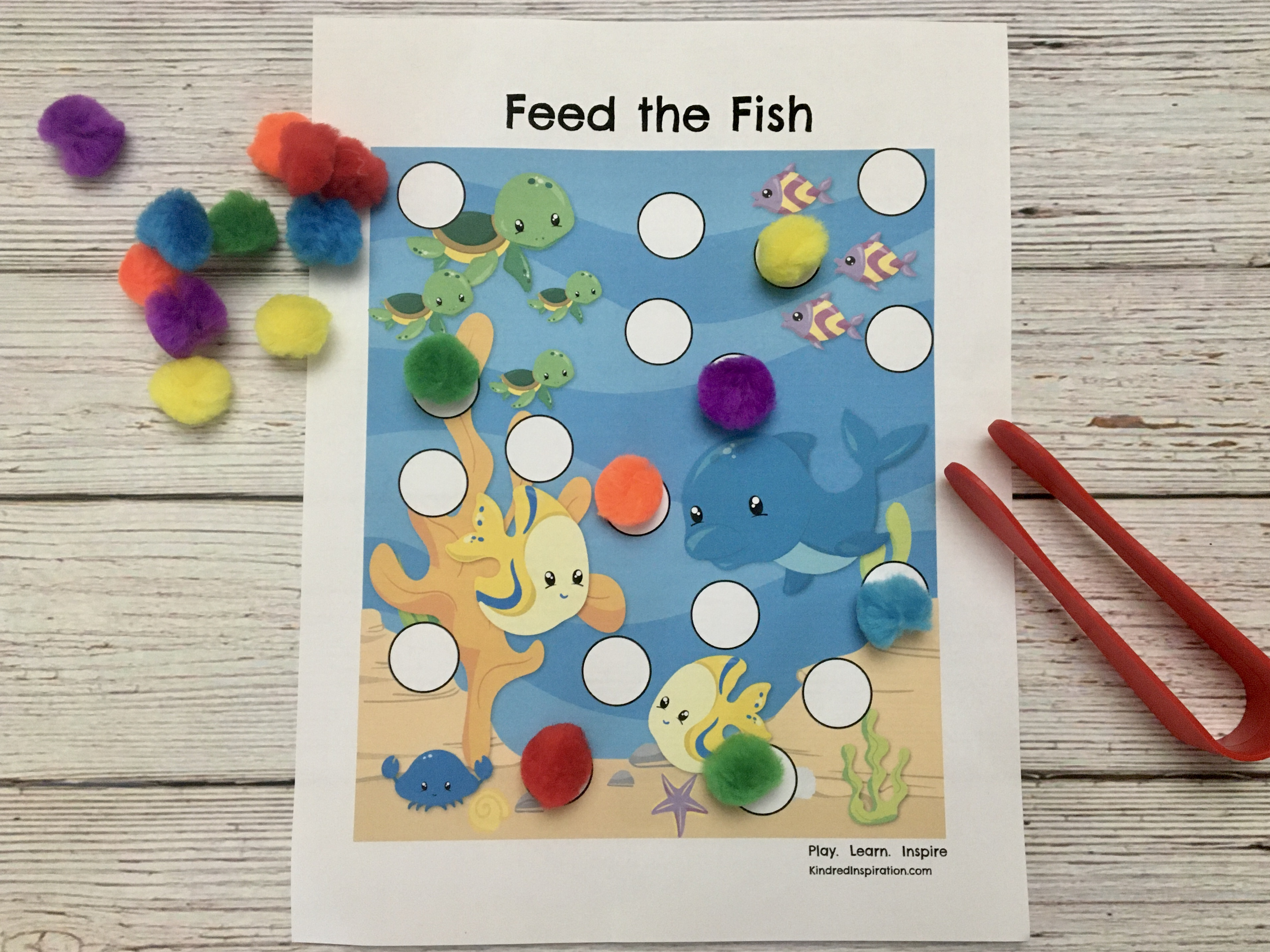 toddler pom pom activity printable mat busy book