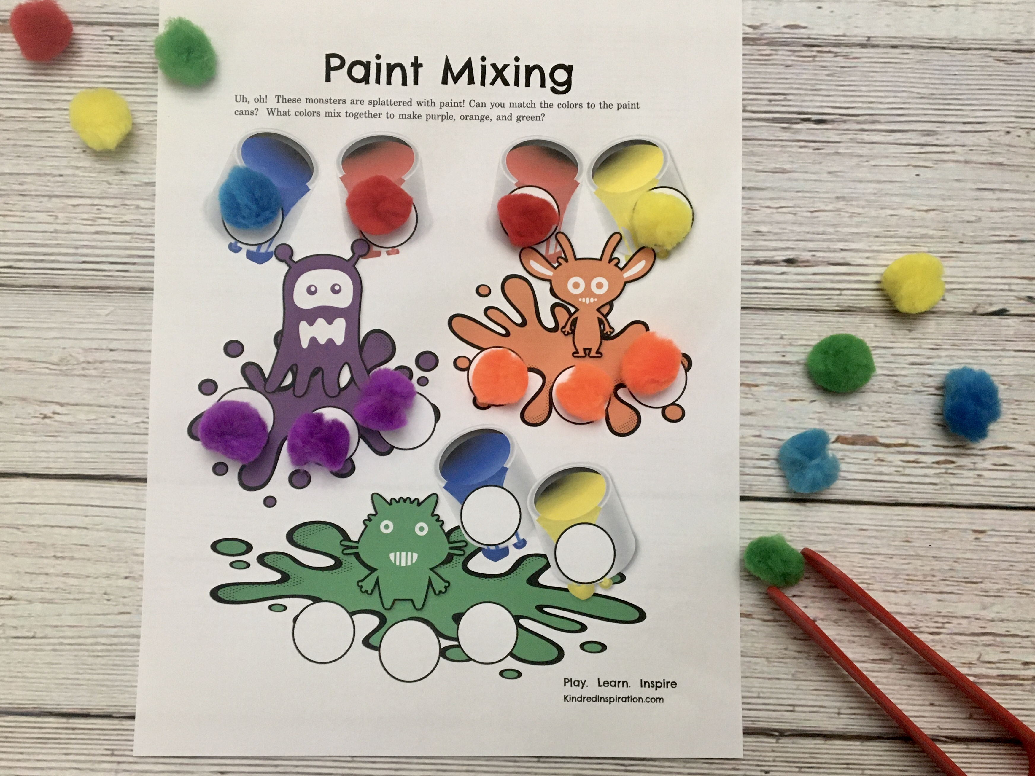 toddler pom pom activity printable mat busy book 5