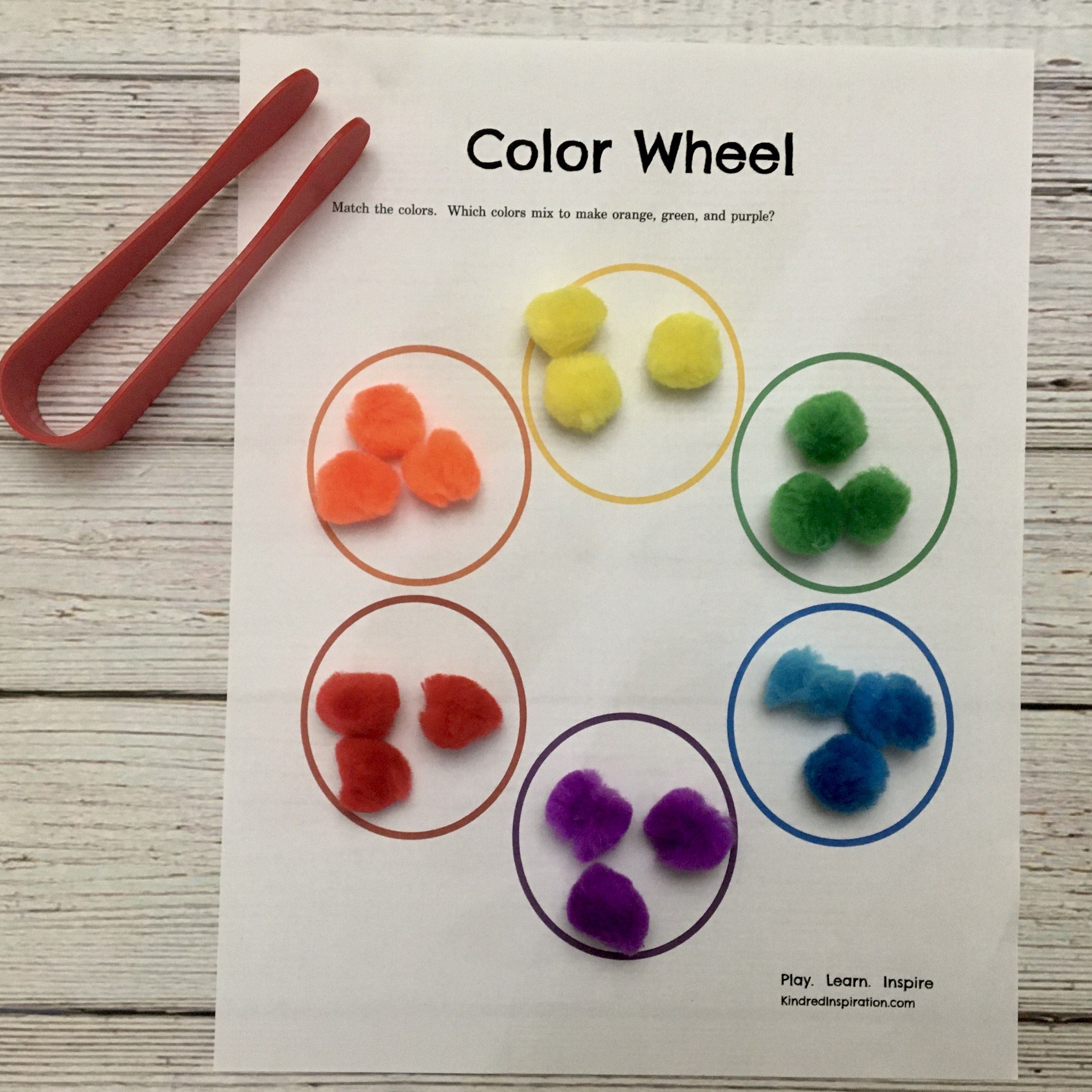 toddler pom pom activity printable mat busy book 2